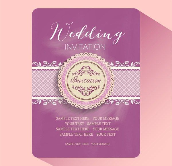 Wedding invitation card template free vector download (22,577 Free ...