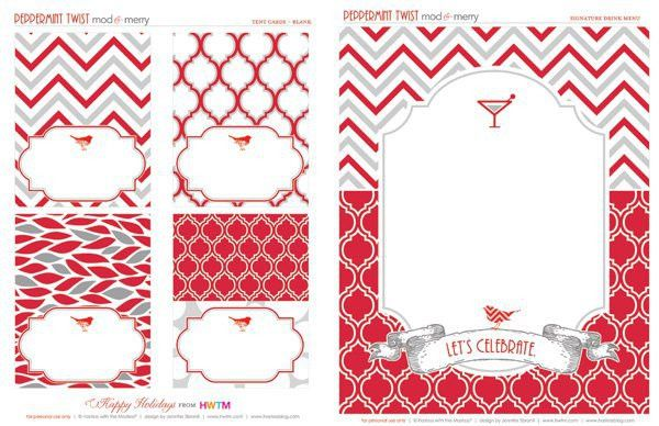 FREE Holiday Printables: Peppermint Twist // Hostess with the Mostess®