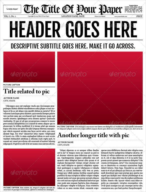 Newspaper Template Ai | Best Template Examples