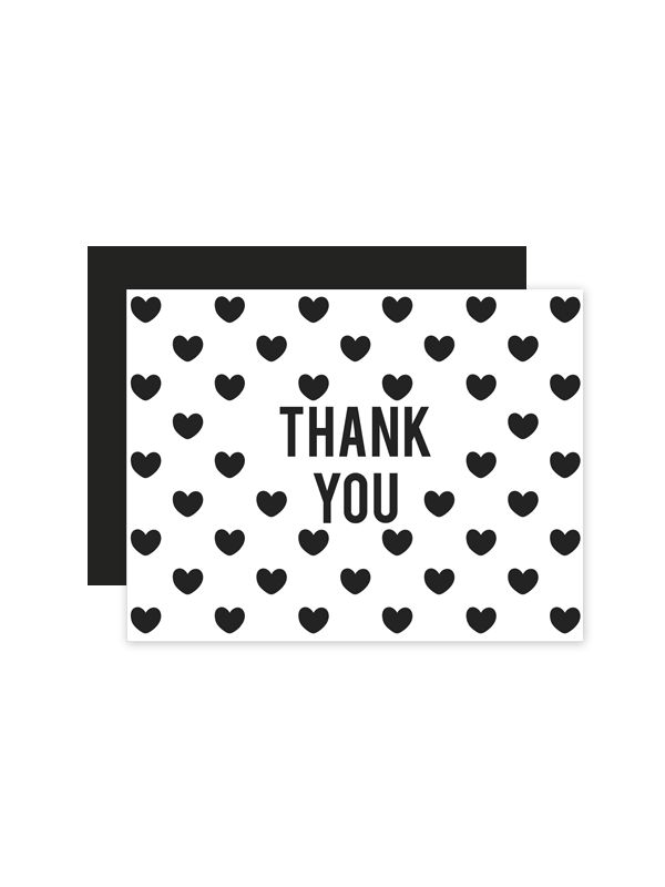 Heart Pattern Wedding Thank You Cards | Printable hearts, Free ...