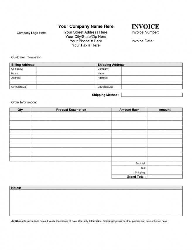 Business Invoice Sample. Invoive Template Free Excel Invoice ...