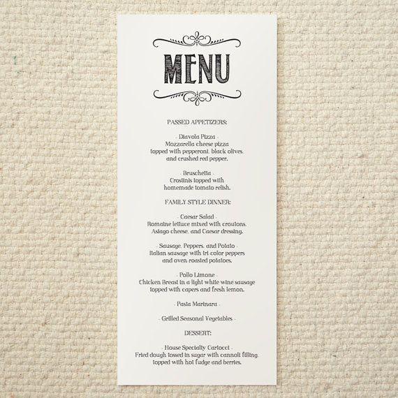 41 best Menu ideas images on Pinterest | Wedding menu template ...