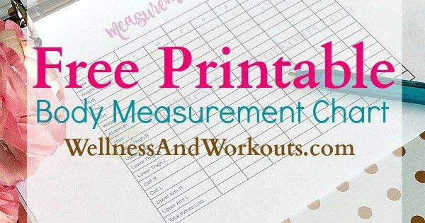 Free Printable Body Measurement Chart | T-Tapp Inspired Body ...
