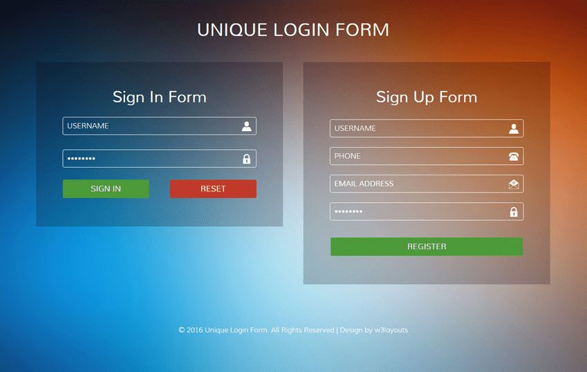 90+ Best Free HTML5 Form Templates 2017