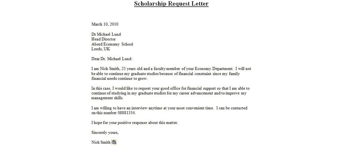 scholarship application cover letter sample with Scholarship Cover ...