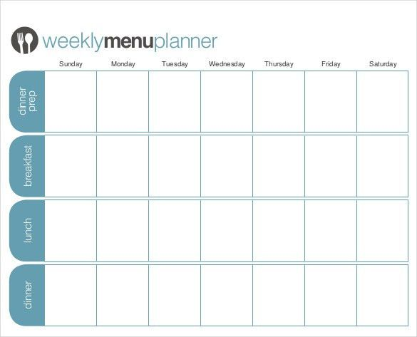 18+ Menu Planner Templates – Free Sample, Example Format Download ...