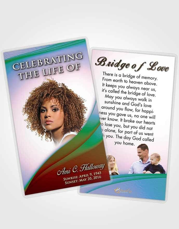 Obituary Template Trifold Brochure Wisdom Magnificence