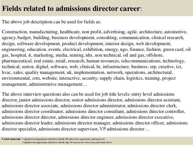 Top 10 admissions director interview questions and answers