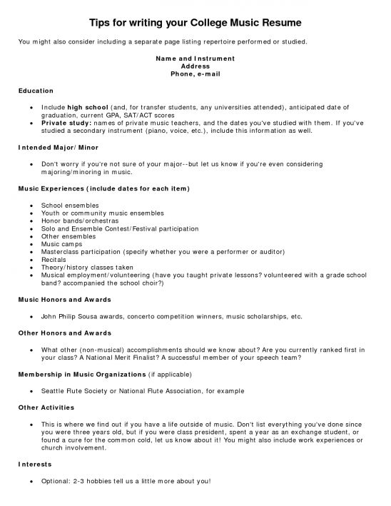 pretty ideas music resume template 15 music resume template ...