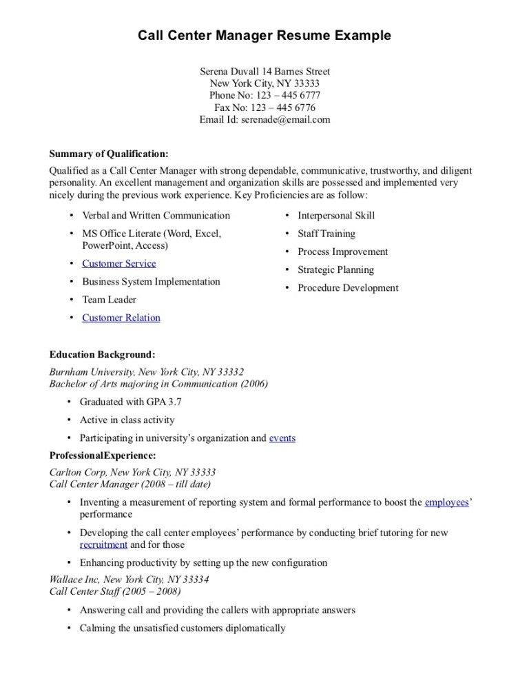 Amazing Call Center Sample Resume With No Experience 83 About ...