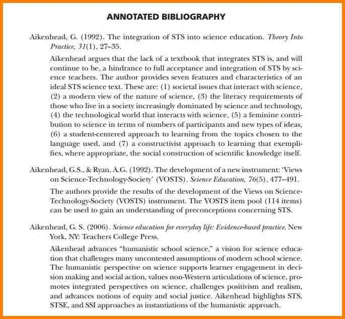 5+ examples of annotated bibliography in apa format | Annotated ...