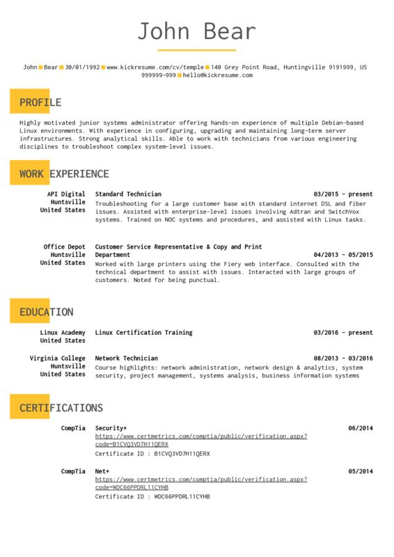 All resume samples | Career help center