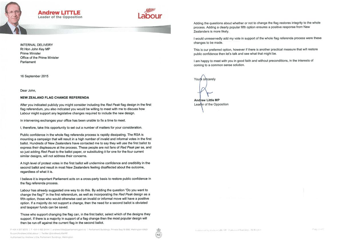 "Andrew Little on Twitter: ""Sent this letter to John Key this ..."