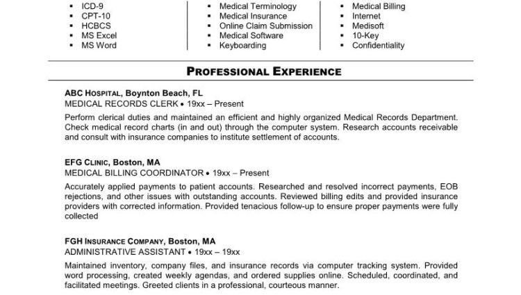 Medical Billing and Coding Specialist Resume Example ...