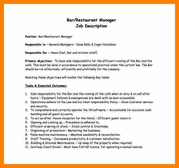 5 job description of restaurant manager. restaurant manager job ...