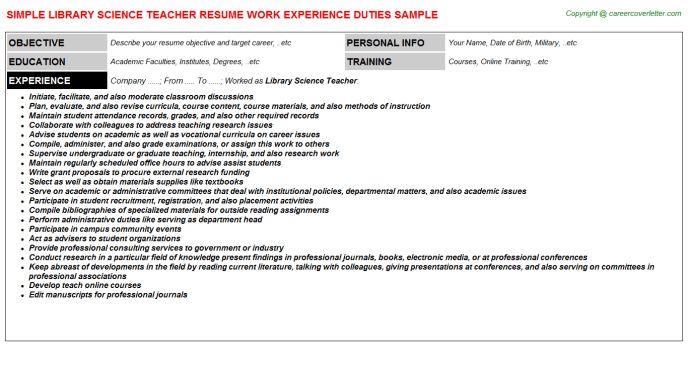 math teacher resume objective