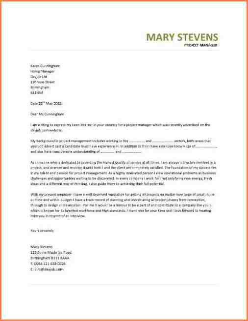 7+ example of a simple cover letter | Cover Letter Examples