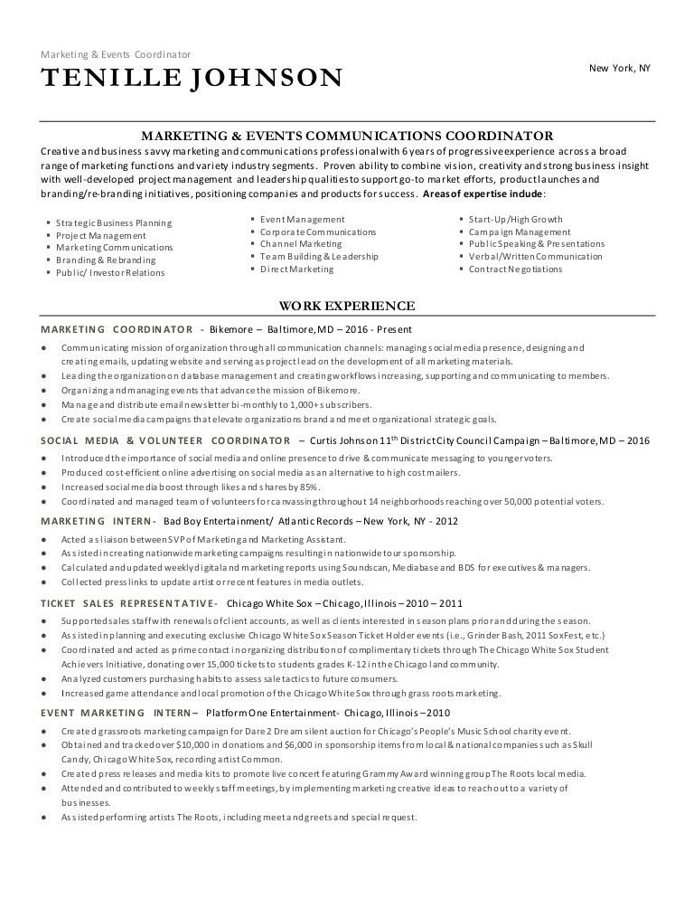 resume for event coordinator planner resume event planner free
