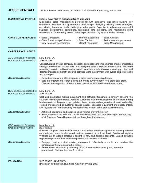 Effective Hotel Sales Manager Resume and Managerial Profile and ...