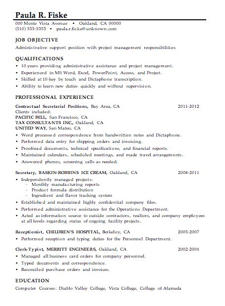 sample resume for manager position word template certificate ...