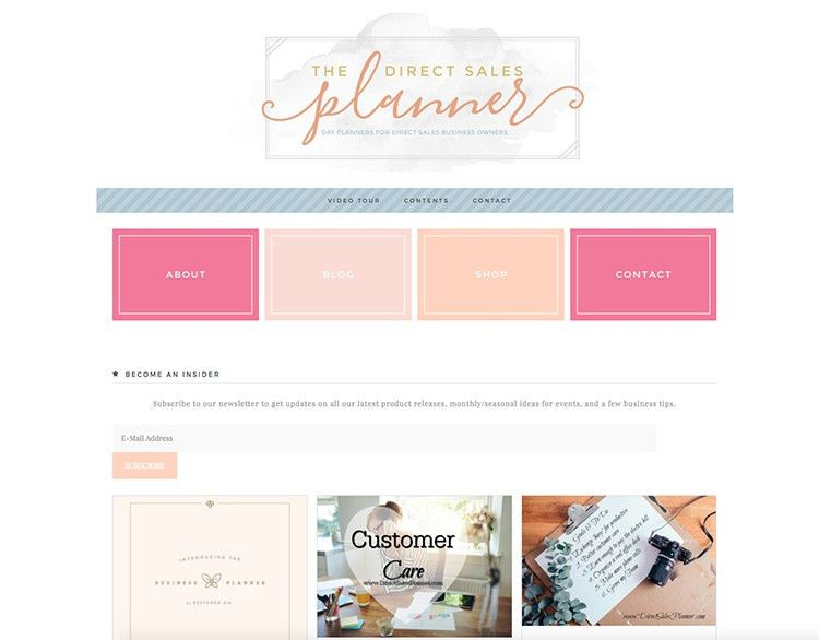 The Direct Sales Planner • Feminine Wordpress Themes • Restored 316