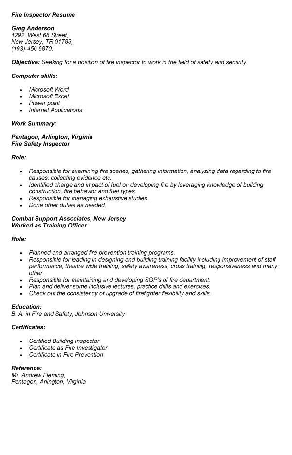 property inspector resume professional home inspector templates