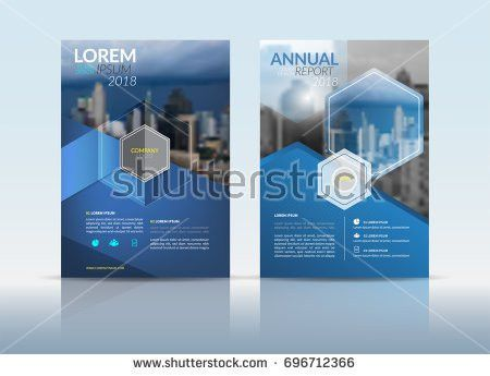 Cover Design Template Annual Report Cover Stock Vector 687576178 ...