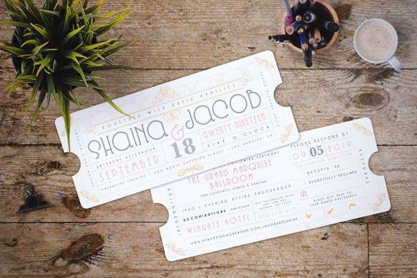 Wedding Invitations Concert Ticket Design - Wedding Invitation