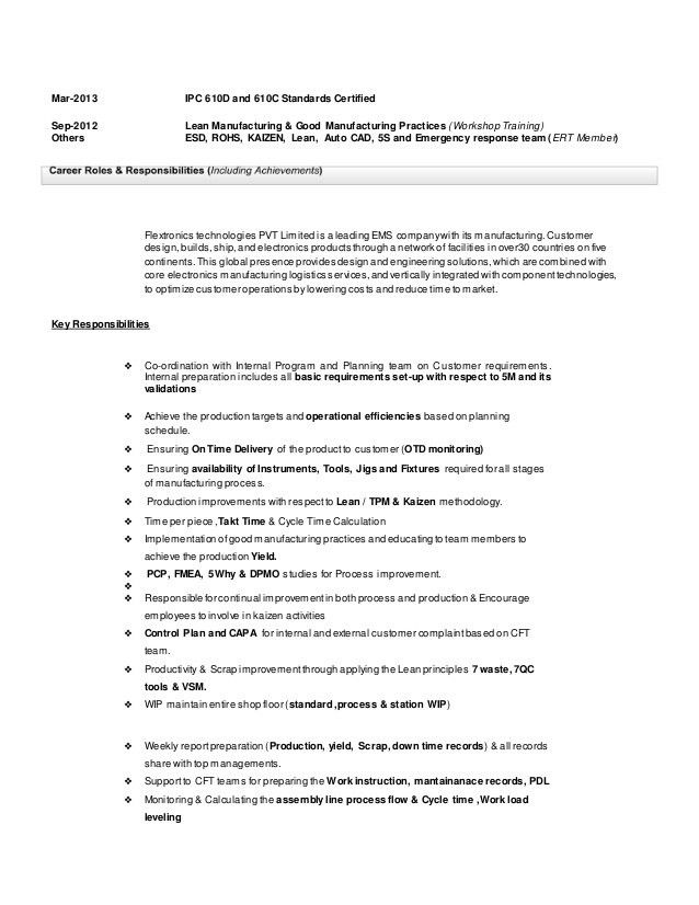 Download Production Engineer Sample Resume | haadyaooverbayresort.com