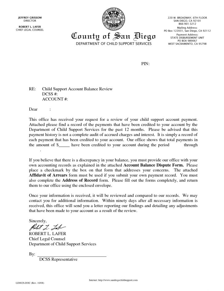sample letter of agreement to pay child support docoments ojazlink ...