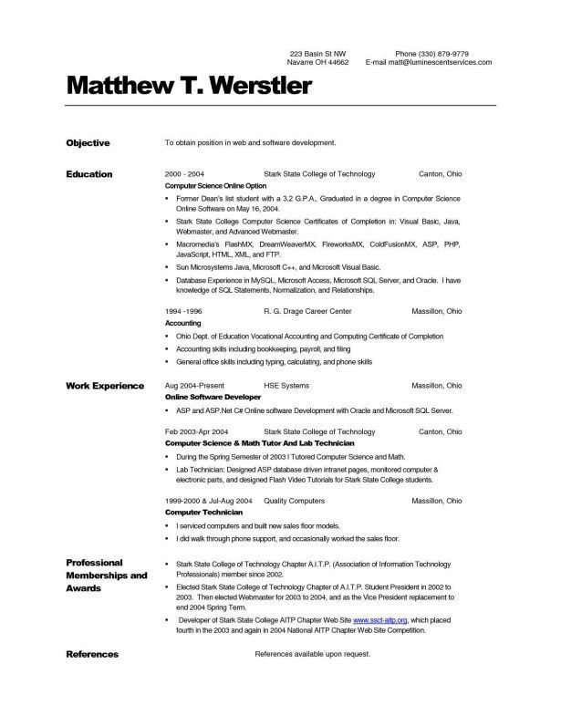 Resume : Chop Nurse Extern Simple Resume Writing Reference Page On ...