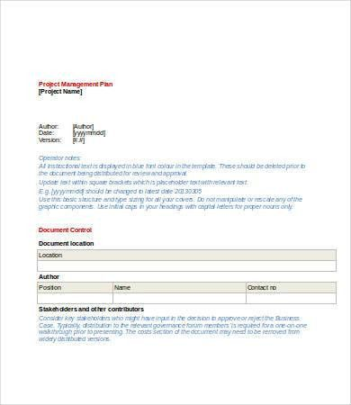 Project Plan Template Word - 6+ Free Word Documents Download ...