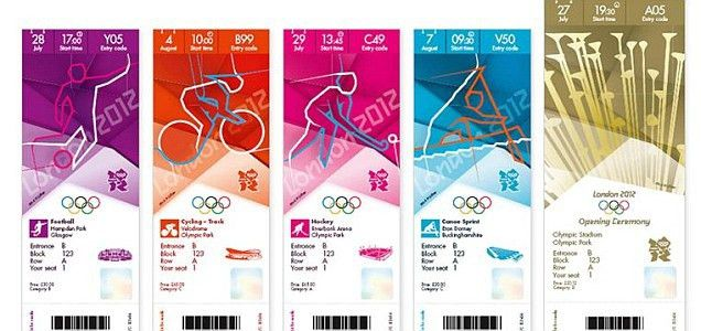 London 2012 Olympic ticket designs revealed by Games officials ...