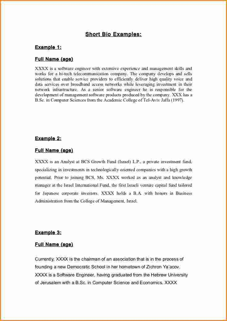 9+ high school biography template | Invoice Template Download