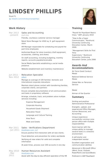 Accounting Resume samples - VisualCV resume samples database