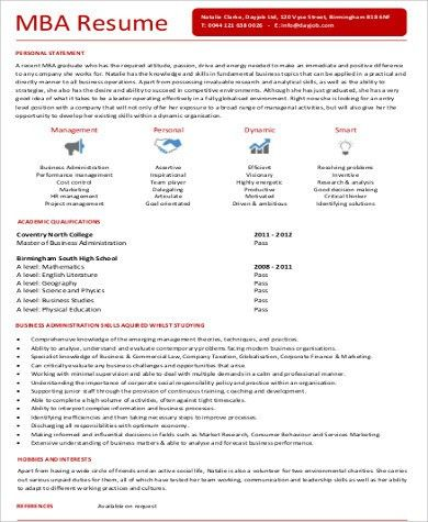 Sample MBA Marketing Resume - 6+ Examples in Word, PDF