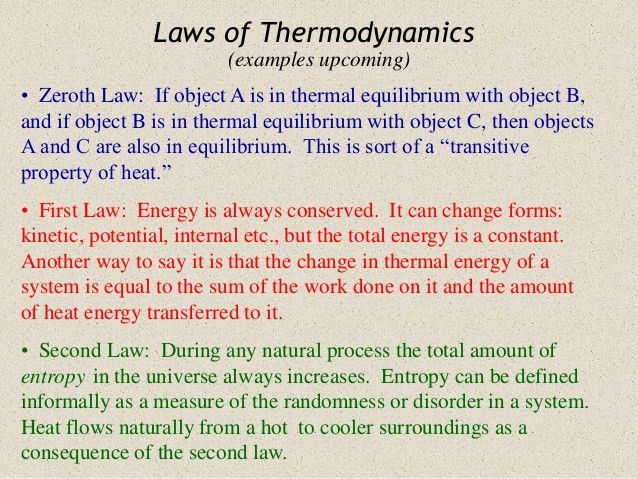 Thermo dynamics