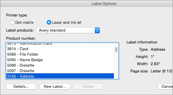 Use Avery templates in Word 2016 for Mac - Word for Mac