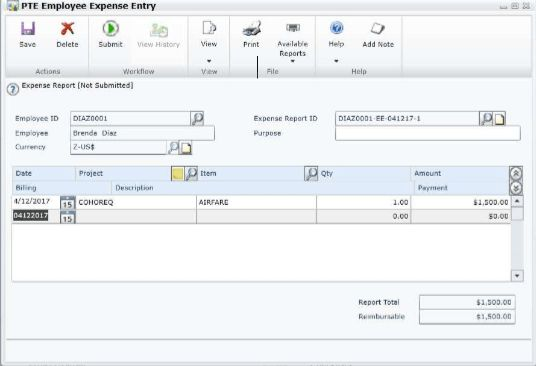 New in Microsoft Dynamics GP 2015: Project Employee Expense ...
