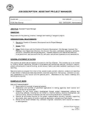 PARAGON Job Description Assistant Manager, Test Centre ...