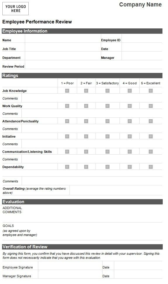 Performance Sample Evaluation. Employee Performance Review   Hr ...