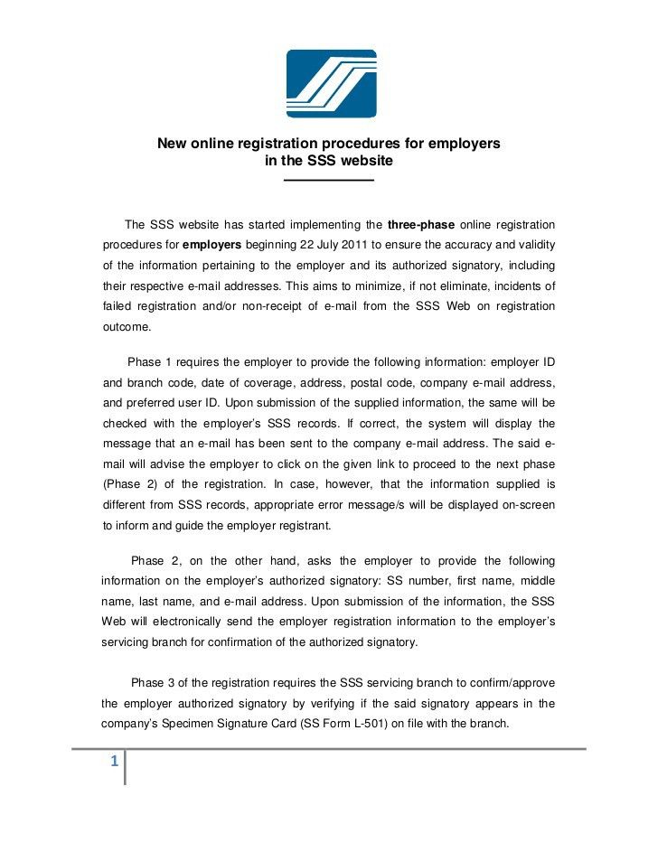 New online Registration Procedures for Employers