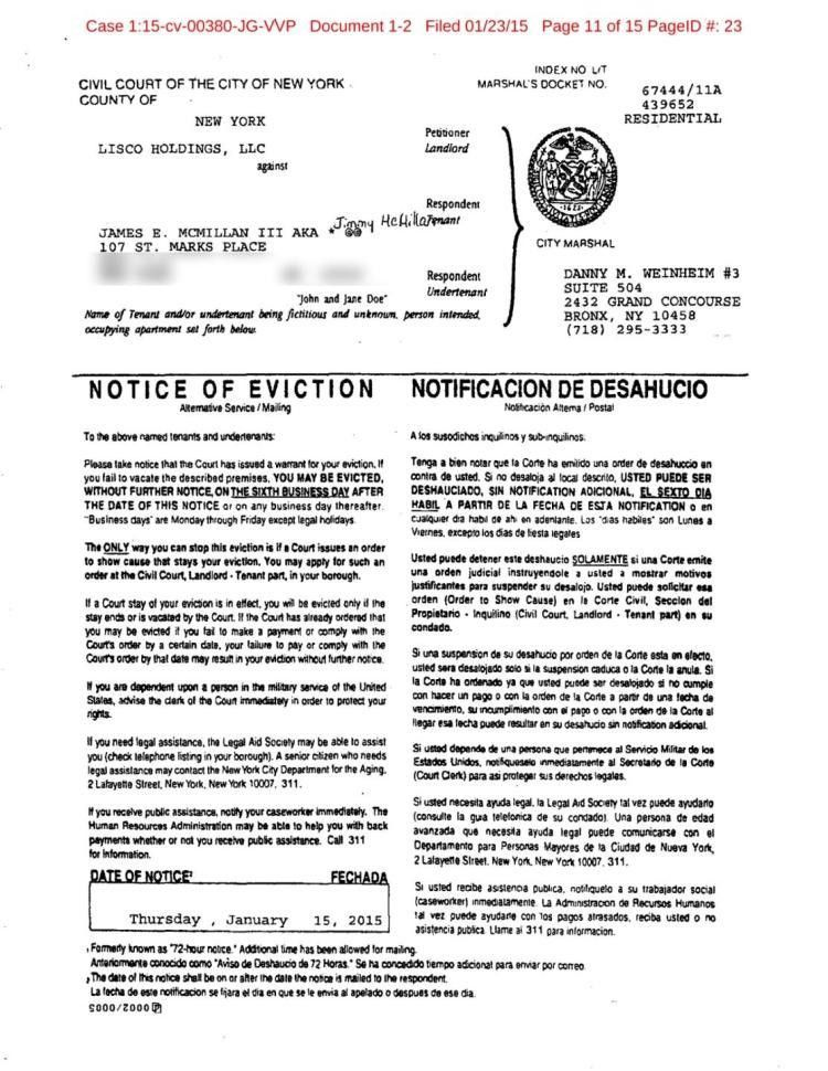 Eviction Notice. Outside Baltimore | Pdf | Word Free Maryland ...