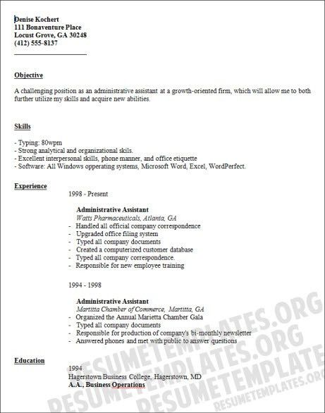 Administrative Assistant Resume. Administrative Assistant Resume ...