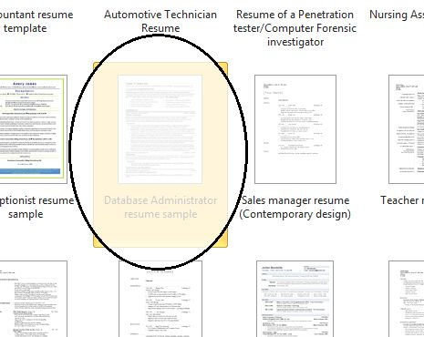 Microsoft Resume Template — Word 2010