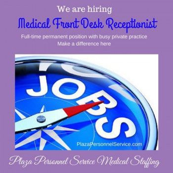 Medical Front Desk Archives - Plaza Personnel Service
