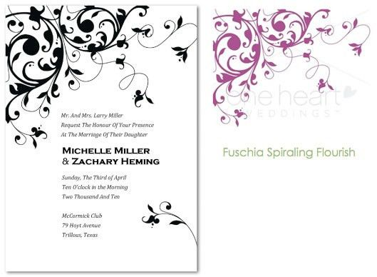 Free Printable Dark Purple Wedding Invitation Templates 100 ...