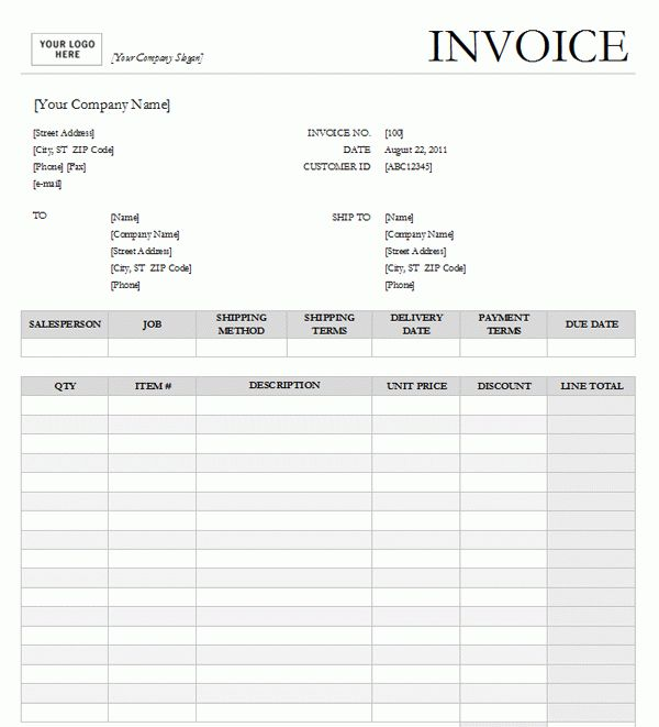Sales Invoice Template #6