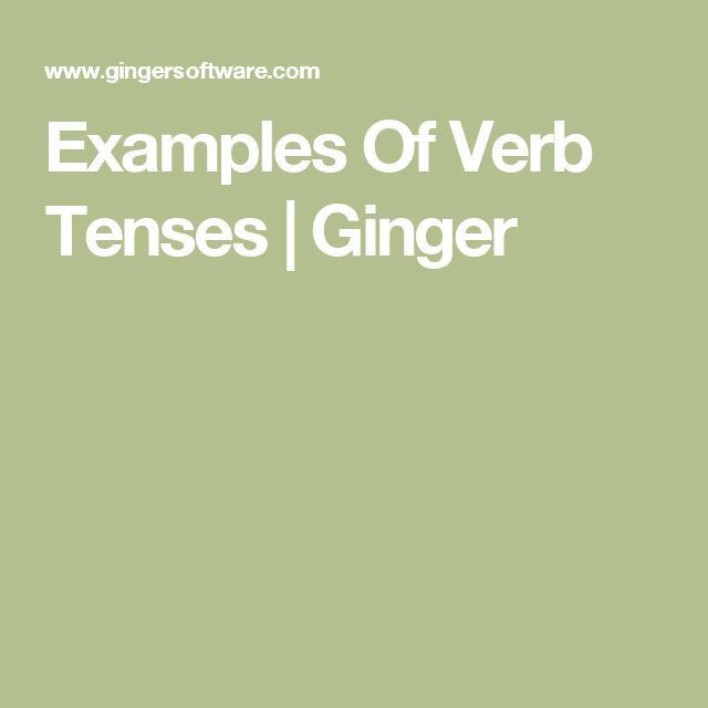 Best 25+ Example of verb ideas on Pinterest | English grammar ...