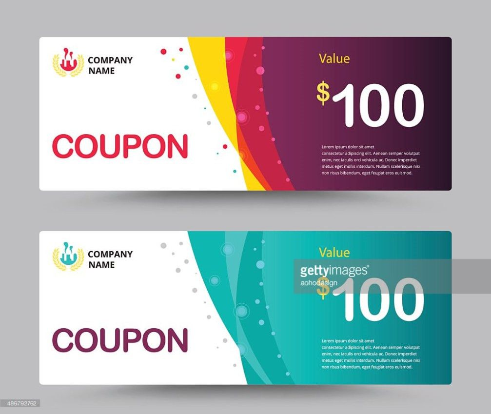 Gift Voucher Card Template Design Coupon Template Vector Vector ...